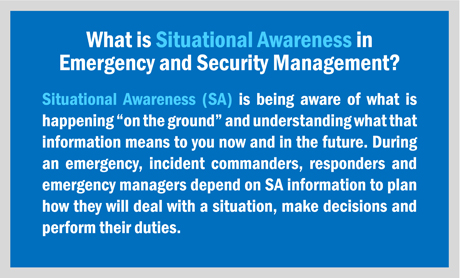 What is Situational Awareness in Emergency and Security Management?