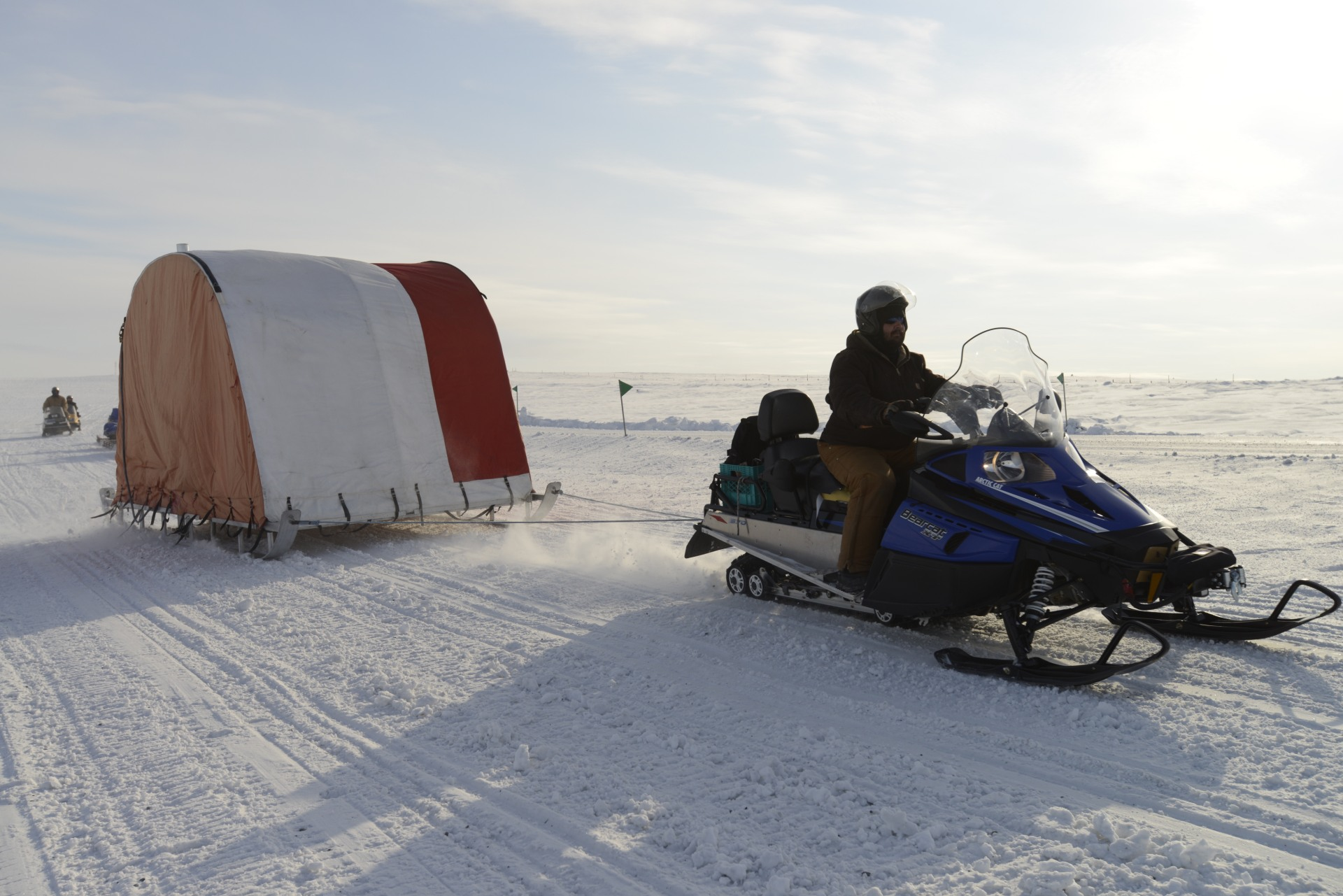 The best tent for the Arctic is a tent on a sled.