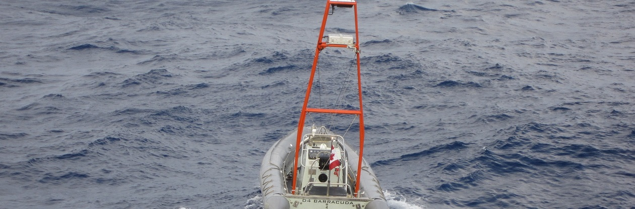 slide - A digital radio frequency memory jammer on-board an unmanned vessel during trials at of Rim of the Pacific (RIMPAC) 2014. RIMPAC is the world's largest international maritime exercises comprised of nations with an interest in the Pacific Rim region.