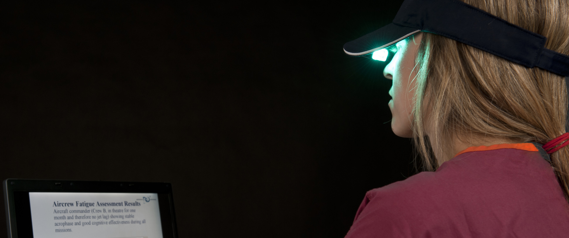 slide - This light visor from Physician Engineering Products in Bangor, Maine, USA, is the light treatment device used at Canadian Forces Station Alert.