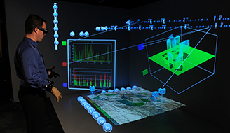 An immersive virtual environment is used to augment individual and collective comprehension of a complex situation.