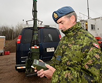 An embedded navigation system is evaluated by a member of the CAF